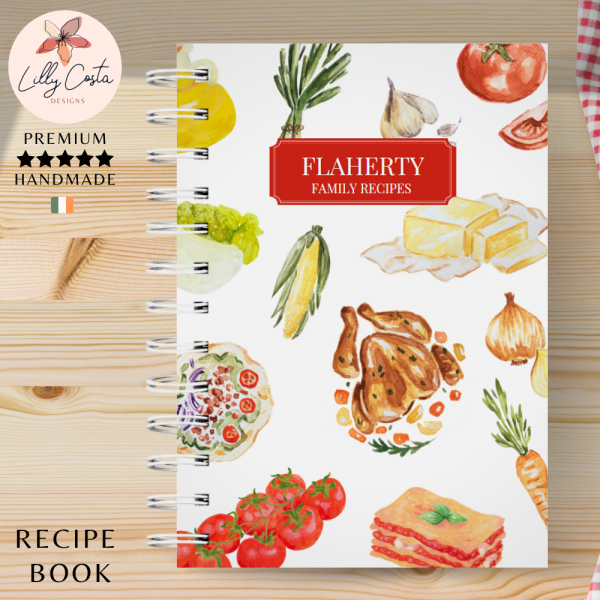 White Dishes Personalised Recipe Book