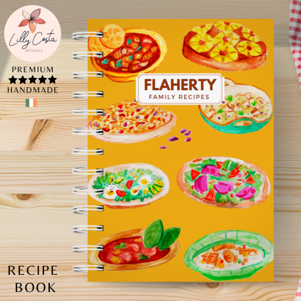 Yellow Dishes Personalised Recipe Book