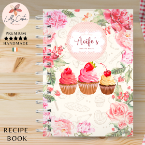 Cupcakes Personalised Recipe Book