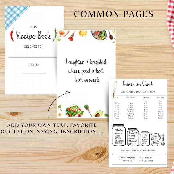 Green Veggies Personalised Recipe Book - 152