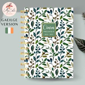 Foliage Personalised Gaeilge Planner Diary Journal