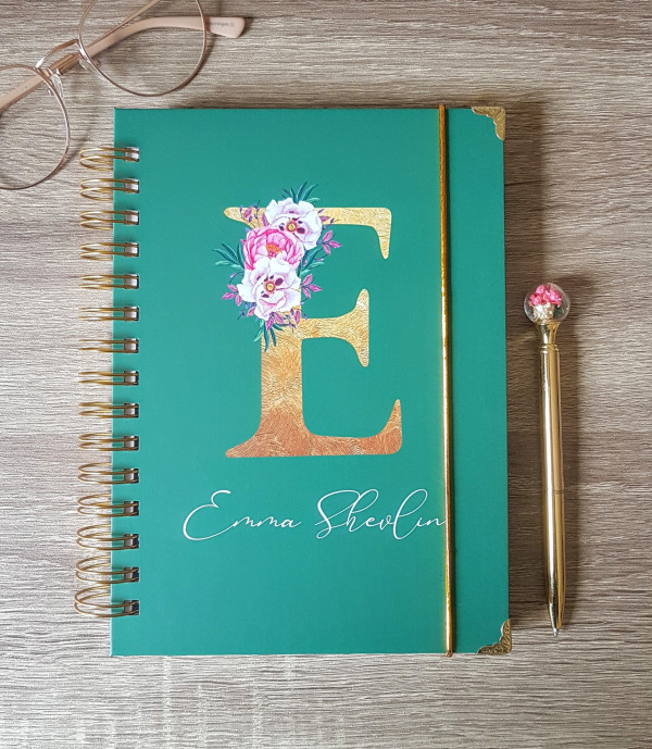 Floral Initial Personalised Planner Diary Journal - 20210302 113552 scaled