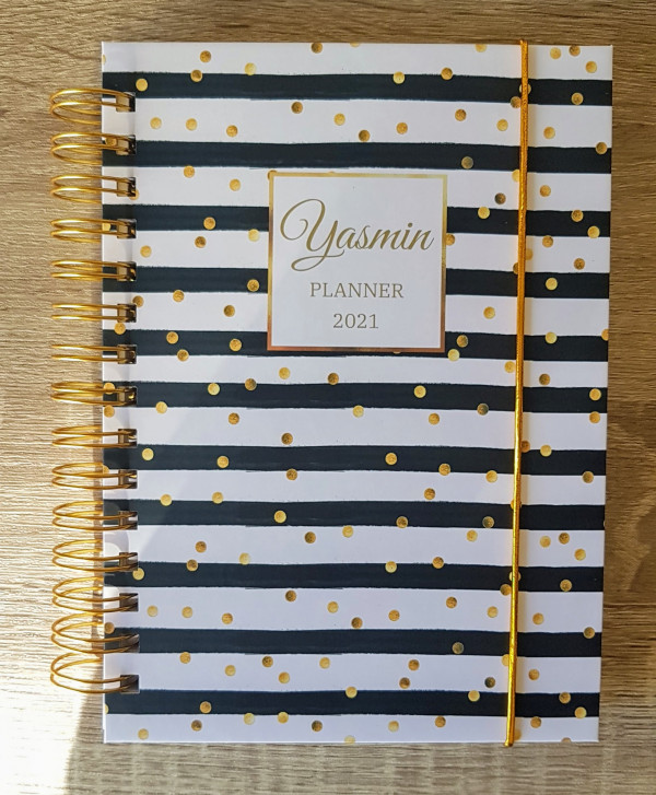 Black and White Stripes Personalised Planner Diary Journal - 20210316 154724 1 scaled