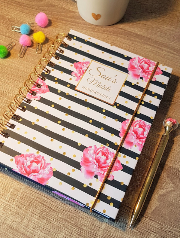 Black Stripes and Flowers Personalised Planner Diary Journal - 20210331 182644 1 scaled