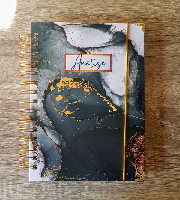 Black Abstract Personalised Planner Diary Journal - 20210402 103803 1