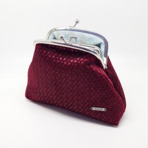 Blood Red Velvet Clutch Bag