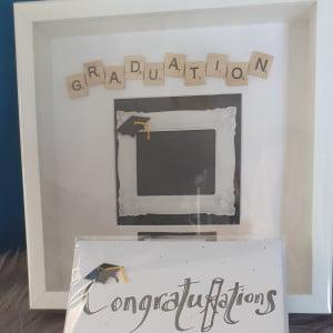 Scrabble Graduation Frame