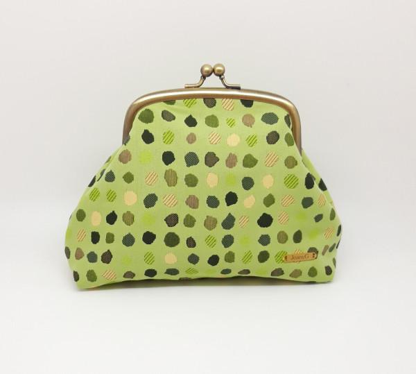 Green Polka Dot Clutch Bag - 20210528 182547