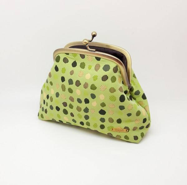 Green Polka Dot Clutch Bag
