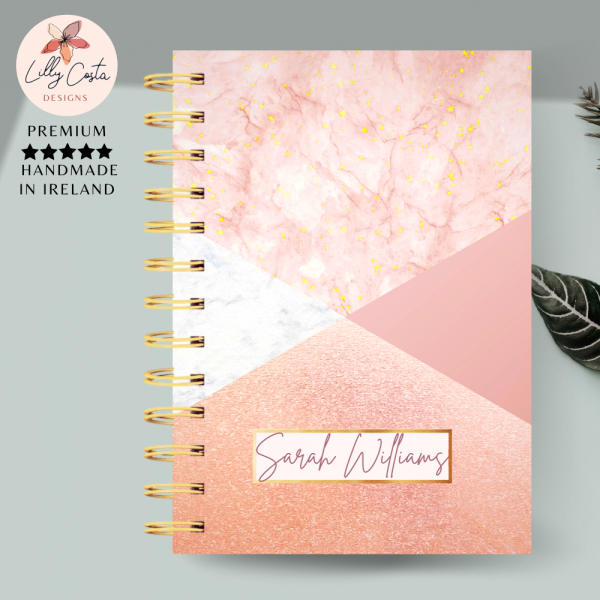 Pink and Gold Personalised Planner Diary - 231