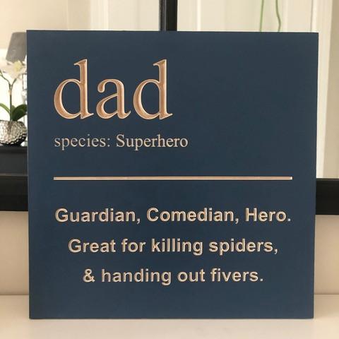 Dad Wooden Plaque