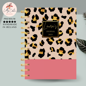 Animal Print Personalised Planner Diary Journal