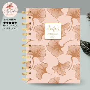 Nude Ginkgo Personalised Planner Diary Journal