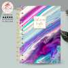 Purple Abstract Personalised Planner Diary Journal