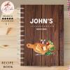Wood Board Personalised Recipe Book