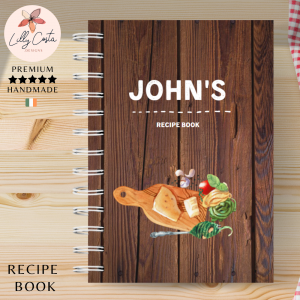 Wood Board Personalised Recipe Book