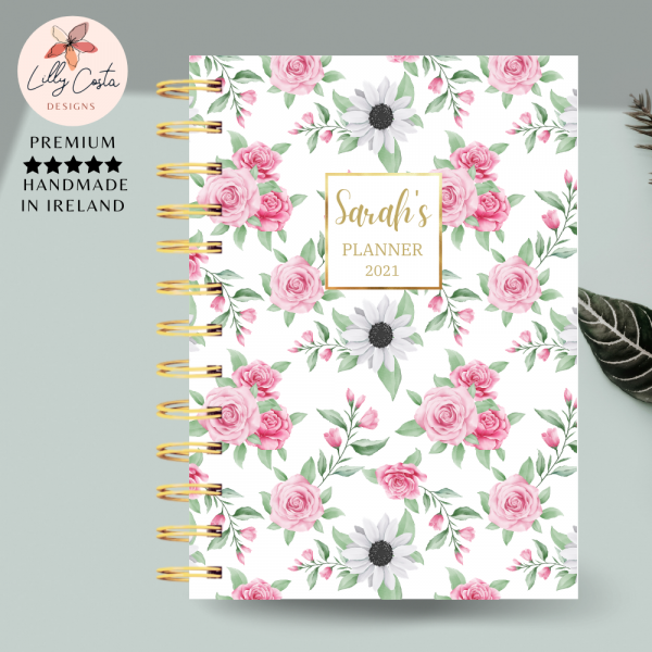 Roses and Daisies Personalised Planner Diary Journal