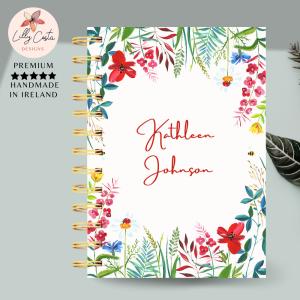 Flowers Personalised Planner Diary Journal