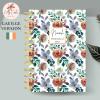 Green Floral Personalised Gaeilge Planner Diary Journal
