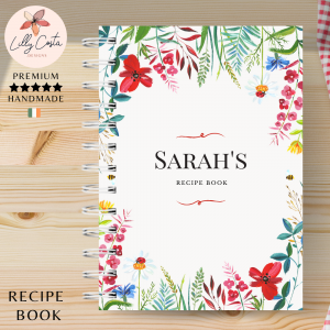 Flowers Personalised Recipe Book