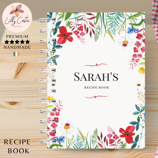 Flowers Personalised Recipe Book