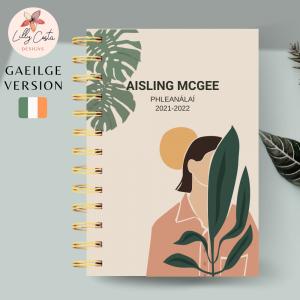 Woman Nature Personalised Gaeilge Planner Diary Journal