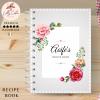 Grey Flowers Personalised Recipe Book