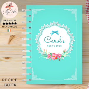Blue Lace Personalised Recipe Book