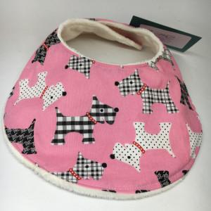 Baby Bib Pink Scottie dog