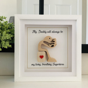 Daddy & Me Wooden Figures Frame