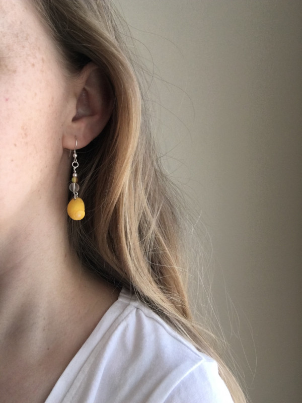 Yellow Periwinkle Shell Earrings - CC8BA5A7 80DC 4A84 94F9 EA50AF4064CA scaled