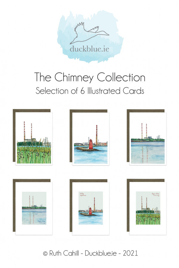 Poolbeg Chimney Collection - 6 Cards