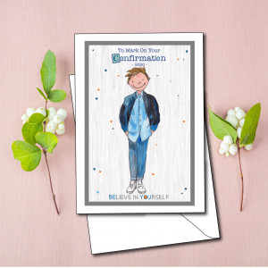 Personalised Confirmation Cards for boys and girls