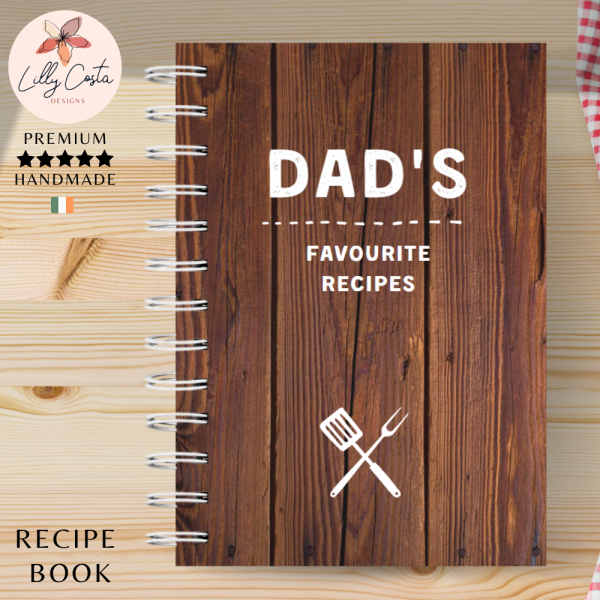 Wood Personalised Recipe Book