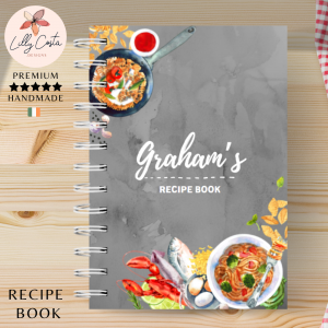 Grey Marble Personalised Recipe Book