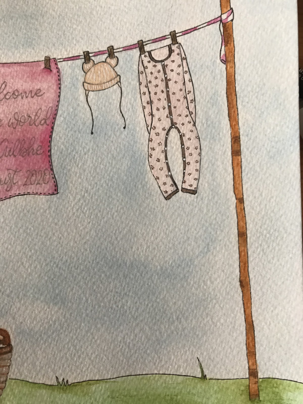 Hand drawn and Painted New Baby Clothesline - IMG 1238 scaled