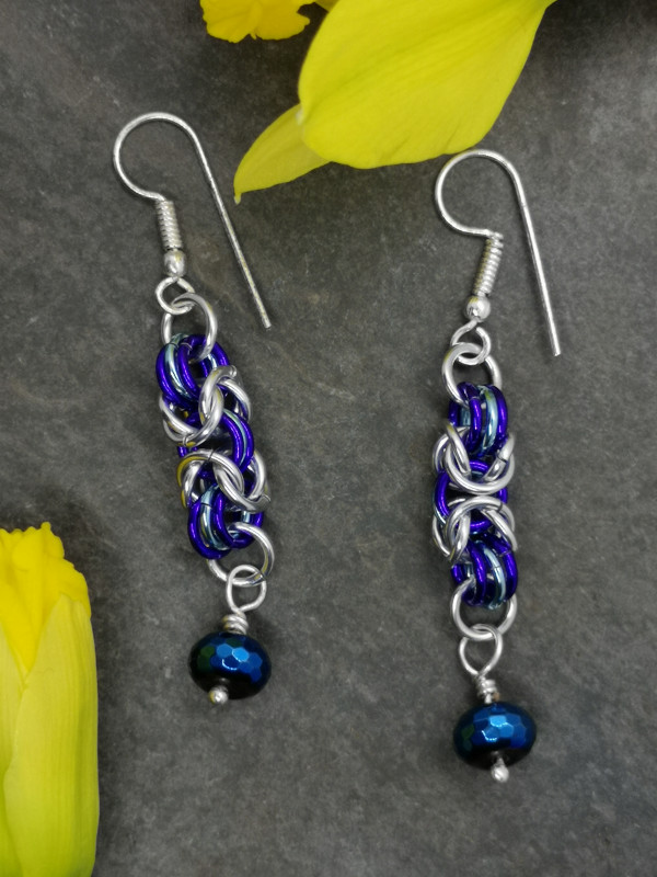 Byzantine Chainmaille Earrings - IMG 20210130 115504 1 scaled