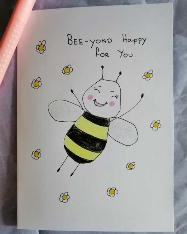 Bee - yond Happy For You Card