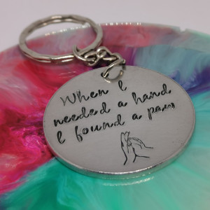 Hand and Paw Keyring
