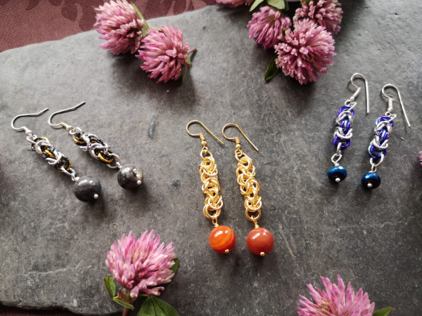 Byzantine Chainmaille Earrings
