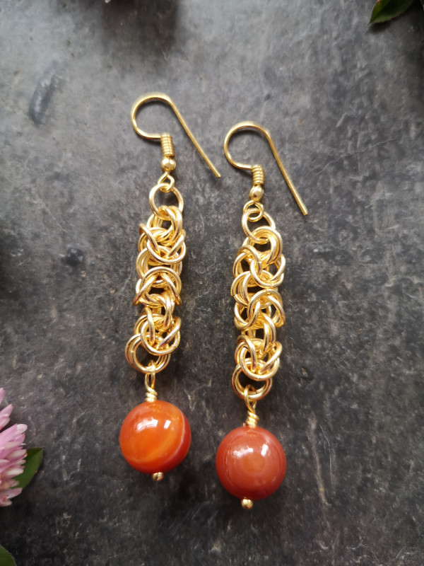 Byzantine Chainmaille Earrings - IMG 20210517 114305 scaled