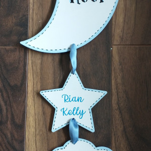 Moon and Back Birth Details Decoration