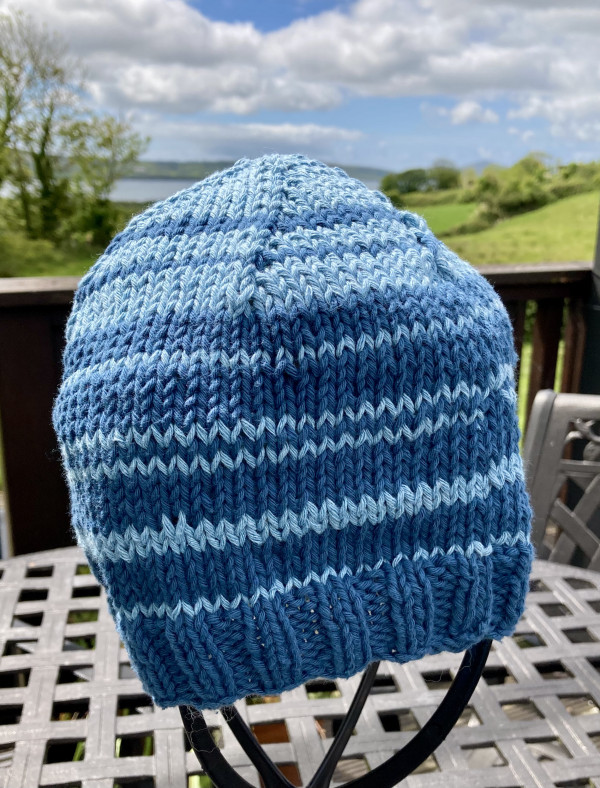 Cool Cotton Hat for Adults - Blue Banding - IMG 5353 scaled