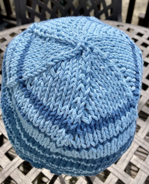 Cool Cotton Hat for Adults - Blue Banding - IMG 5354 scaled