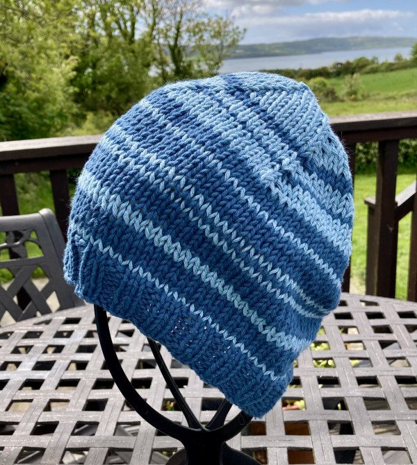 Cool Cotton Hat for Adults - Blue Banding - IMG 5355 scaled