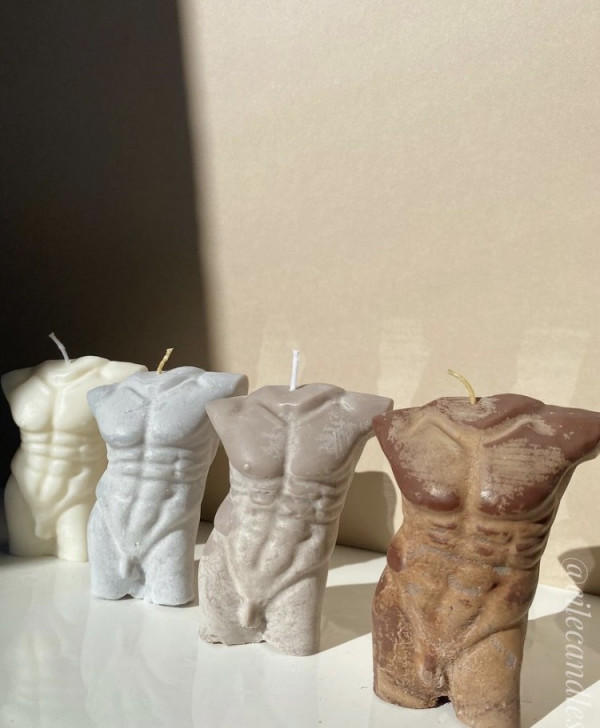 Male Body Soy Wax Candle