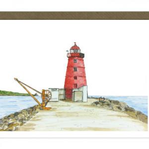 Poolbeg Lighthouse Card