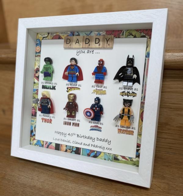 Personalised Superhero Frame with Marvel Border
