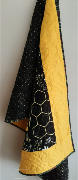 Save the Bees Baby Quilt - bees4