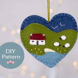 Cottage Heart Felt Ornament Sewing Pattern